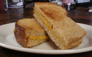 Classic grilled cheese sandwich on wheat bread (baked in-house daily)